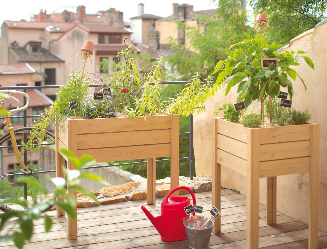 les astuces pour r aliser un potager sur son balcon. Black Bedroom Furniture Sets. Home Design Ideas
